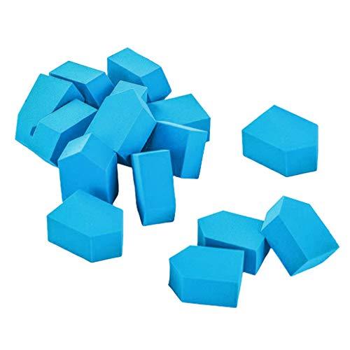 dailymall 15Pcs Maquillage Wedge Sponge Set Mélange Fond De Teint Liquide Puff Dry & Wet Use - Bleu