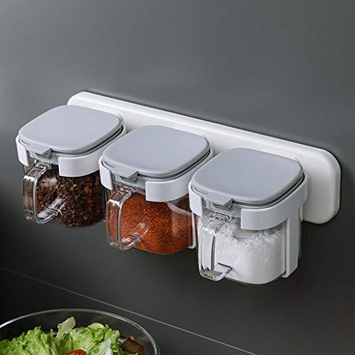 Plastic Kruidenbox - Set Van 3 Kruidenpotjes Voor Het Bewaren Van Kruiden, Kruiden, Marinade, Suiker, Zout, Peper Om Droog Te Houden - Accessoires Voor Keukengereedschap