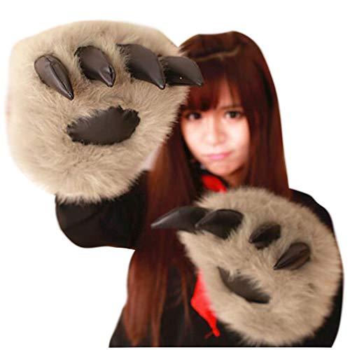 L Big Boss Halloween-Cosplay-Handwärmer, bequem, mit Wolf-Kralle, niedliches Handwärmer, Plüschbären-Handschuhe, Bär-Kralle, Tiger, Geburtstagsgeschenk