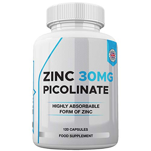 Zinc 30mg as Picolinate 120 Capsules Made in The UK by Freak Athletics