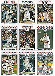 2008 Topps Traded Baseball Updates and Highlights Series Complete Mint Hand Collated 330 Card Set. Includes Evan Longoria's Rookie Card Plus Albert Pujols, Alex Rodriguez, Derek Jeter, Ichiro Suzuki and More.
