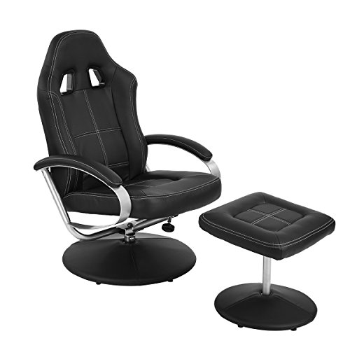 Racing Chair Homycasa Racing Chair High-Back Leather Computer...
