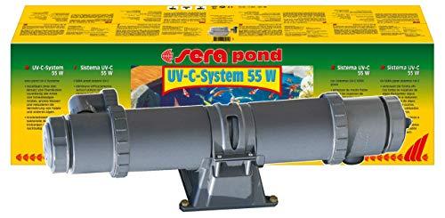 sera 08264 UV-C-System 55 W ein Hochleistungs-UV-C-Wasserklärer gegen grünes Wasser, gegen Algen und gegen Krankheitserreger - ganz ohme Chemie