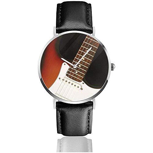 Reloj de Guitarra clásica Vintage para Hombre, Correa de Cuero de PU,...