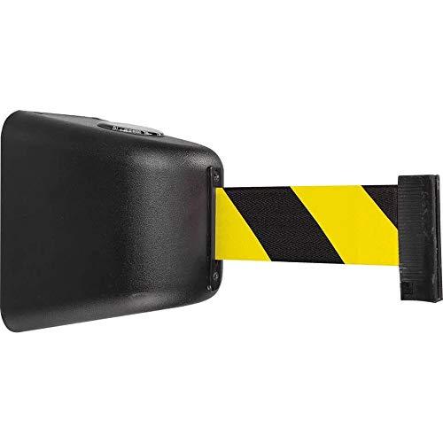 RS-GUIDESYSTEMS GLW 425-J/17-5,0 Gurt-Wandkassette, Innen- und Außeneinsatz, schwarz, gelb/schwarz, 5 m aus Kunststoff