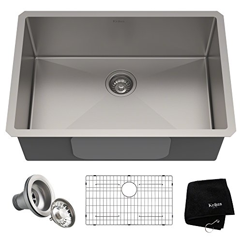 Kraus KHU100-28 Kitchen Sink, 28 Inch,...