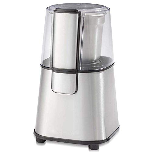 L&WB 180W Electric Spice and Coffee Grinder 304 Stainless Steel Blades and Removable Coffee Powder Bowl for Beans Spices Nuts,Silver,180W