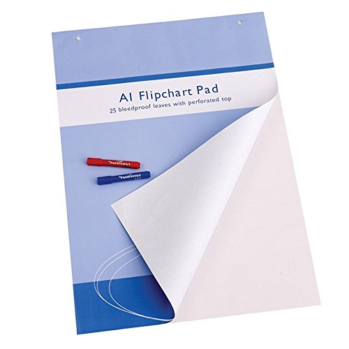 VIZ-PRO Bloc de papel para Pizarra Rotafolios, A1, blanco, 841 x 594 mm, 25 hojas