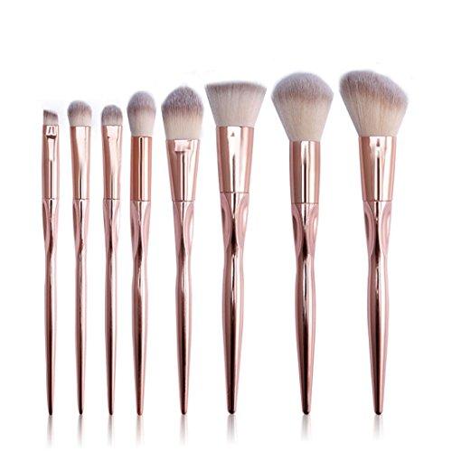 Pinceaux à Maquillage, Honestyi 12pcs Pinceau cosmétique Outils de Kits Multicolore (8pcs, Rose)