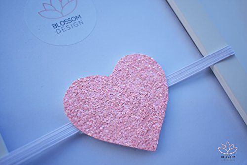 Pink Glitter Headband, Pink Valentines Headband, Valentine Baby Headband, Pink Heart Headband, Glitter Heart Headband, Valentine's Baby Girl Headband, Headband For All Ages, Ready To Ship
