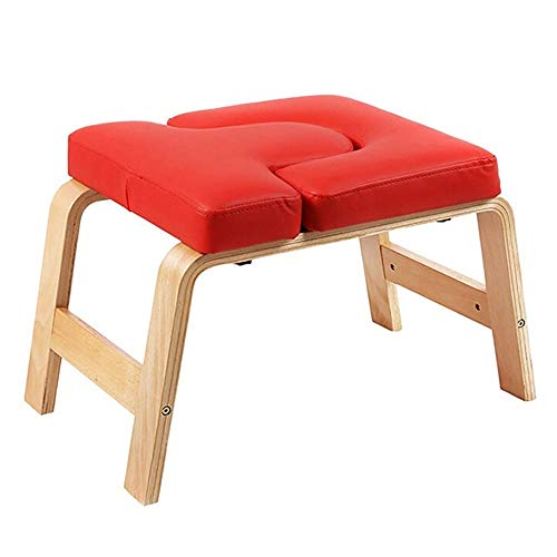 Find Bargain Zxcvlina-YD Inversion Benches Yoga Inversion Chair PU Leather Yoga Asana Exercise Equip...