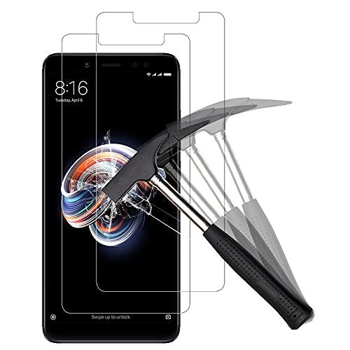 ANEWSIR [2 pièces] Xiaomi Redmi Note 5 / Note 5 Pro Verre trempé Protection d'écran, 9H Dureté, Installation Simple sans Bulles, Anti-Rayures, HD-Clear, Protection Ecran pour Redmi Note 5/Note 5 Pro