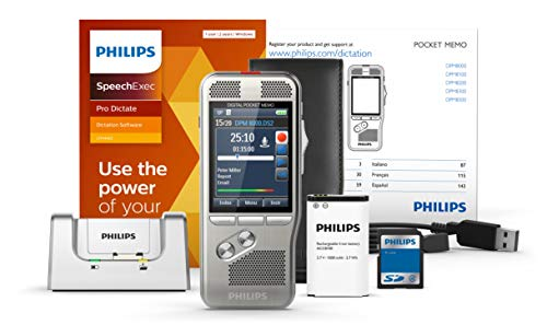 Philips Pocket Memo 8000 Digital Dictation Portable Recorder with SpeechExec Pro Dictate 2 Year Subscription