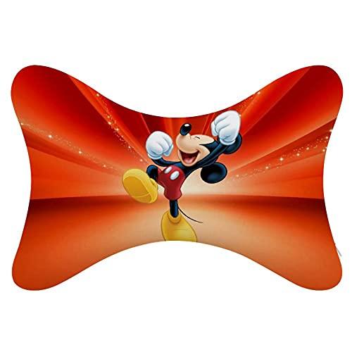 Almohada para el cuello del coche de Mickey Mouse Minnie 2 unids espuma viscoelástica reposacabezas almohada universal suave transpirable Relax cuello apoyo