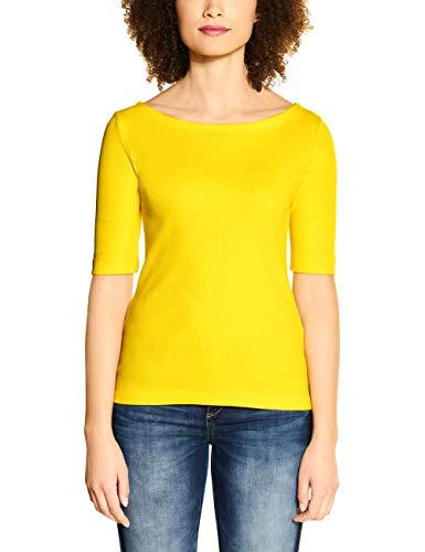 STREET ONE Damen 314659 T-Shirt, Shiny Yellow, 42