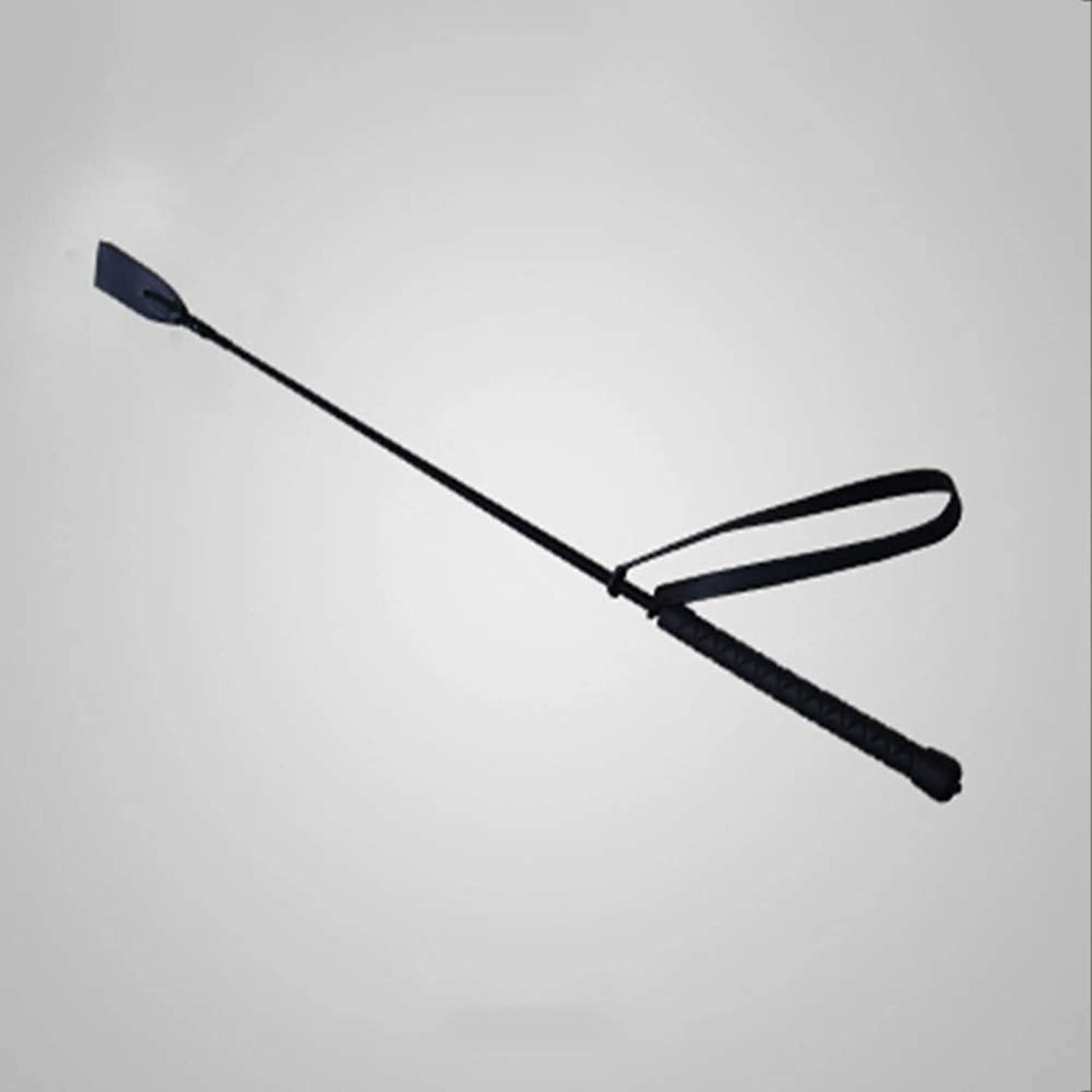 Horse Riding Crops,Horse Whip Crop Suitable for All Equestrian Styles 26inch Black (with Wrist Strap)