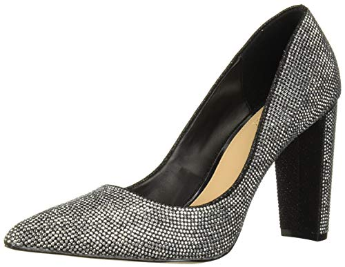 Jewel Badgley Mischka Women's RUMOR II Shoe, Black Fabric, 8 M US