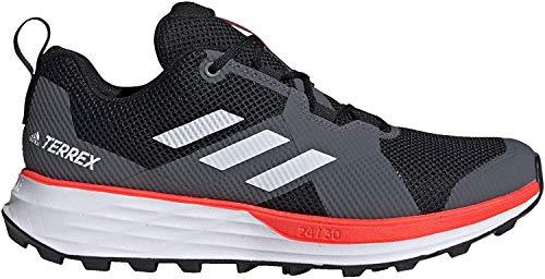 Adidas Terrex Two Trail Zapatillas de correr para hombre, Negro (Núcleo negro/blanco nube/rojo solar.), 41 EU