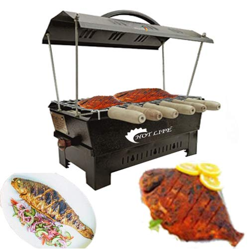 Hot life Electic and Non Electric Charcoal Barbeque (Black, Iron) Multipurpose Big