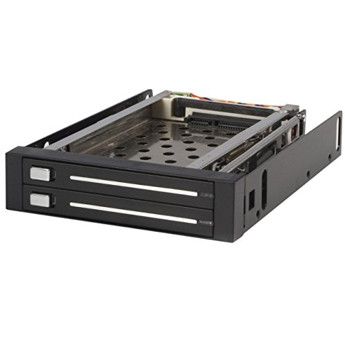 SATA wisselframe 3,5 inch zonder dragers - Mobiele harde schijf opslag Rack voor 2x 6,4 cm (2,5