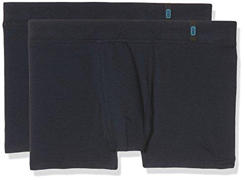 Schiesser Jungen Boxershorts, Blau (Nachtblau 804), 164 (Herstellergröße: M) (2er Pack)