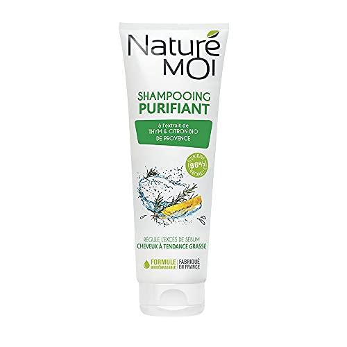 Naturé Moi – Shampooing purifiant à l'extrait de thym et de citron de Provence bio – Purifie les cheveux à tendance grasse – 250ml