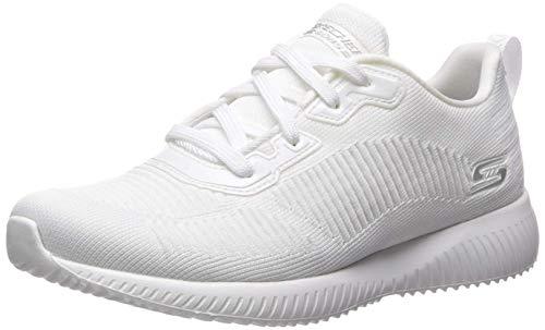 Skechers Bobs Squad-Tough Talk-32504 Zapatillas para mujer, color Blanco, talla 39 EU