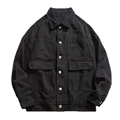 Chaqueta de los hombres sueltos ocasionales de un solo pecho de la chaqueta de mezclilla de