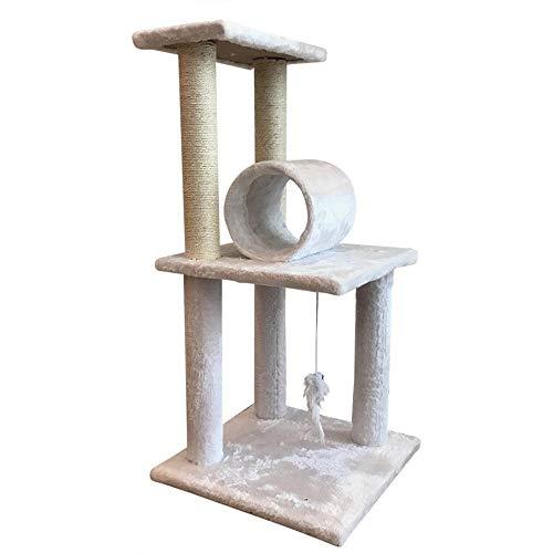 WFDA Katzen-Baum Cat Klettergerüst Katzentoilette Kratzbaum Katzenspielzeug Multi-Layer-Plattform Multifunktionsverschleißfeste Sisal Katze Kratz Katzen Plüsch Condo Nest Basket Perch Platform