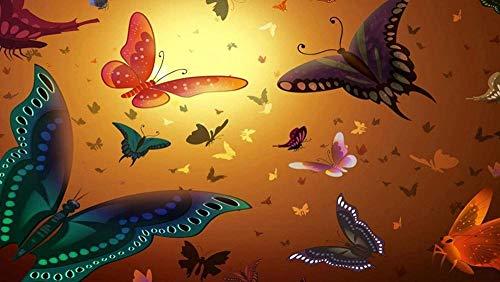 ASWETOTG New Rompecabezas de 1000 Piezas Mariposa Insecto ala de luz DIY Rompecabezas de Madera Decoración para el hogar Estilo