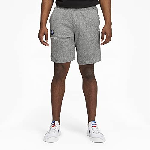 PUMA - Pantaloncini da Uomo BMW MMS Essentials 25,4 cm, Uomo, Pantaloni da Tuta, 59953203, Grigio Erica, S