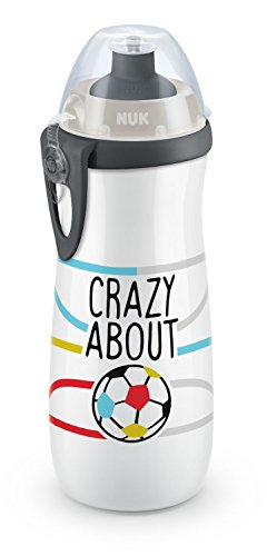 NUK 10255375 Sports Cup Fußball-Edition 450 ml, Push-Pull-Tülle, ab 36 Monaten