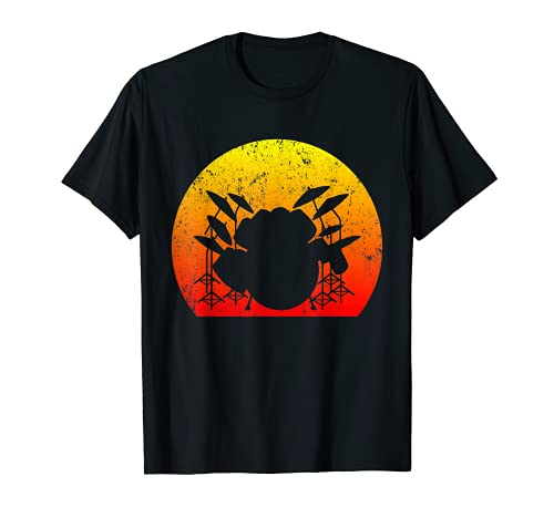 Schlagzeug Drumsticks Drummer Retro Schlagzeuger T-Shirt
