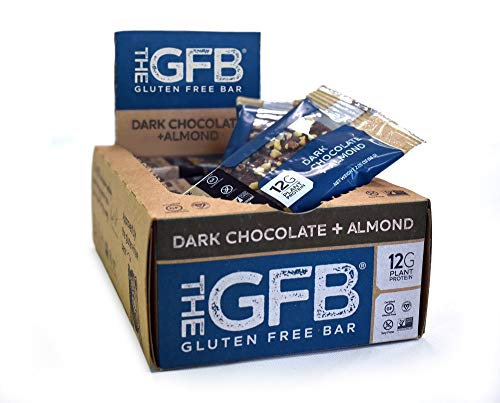 The GFB Gluten Free Protein Bars, Dark Chocolate Almond, 2.05 Ounce (Pack of 12), Vegan, Dairy Free, Non GMO, Soy Free