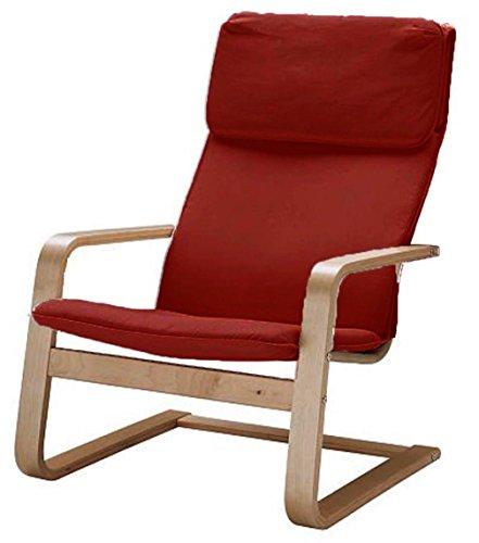 Custom Slipcover Replacement Nur abdecken! Sessel ist Nicht im Lieferumfang enthalten! Der Pello Ersatzbezug Stuhlbezug ist speziell für den Bezug IKEA Pello Chair gefertigtAbdeckung (Cotton Red)