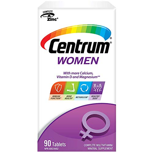 Centrum Women (90 Count) Multivitamin/Multimineral Supplement Tablet, Vitamin D
