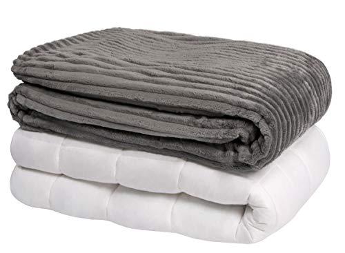 Zofino Sensorische deken, sensorische deken, 135 x 200 cm, verschillende gewichten, therapeutisch product, 100% katoen, anti-allergische vulling, inclusief kussensloop