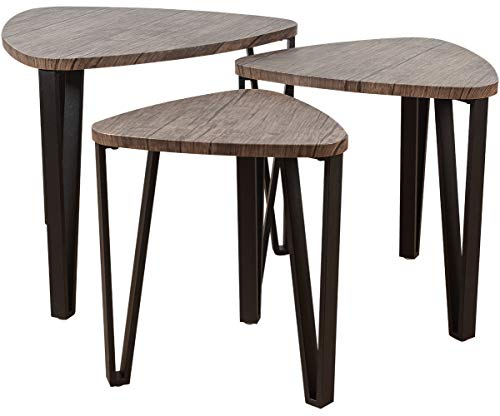 ELANGST White Dining Table, Modern Kitchen Table Wood Leisure Coffee Table Mid-Century Pedestal...
