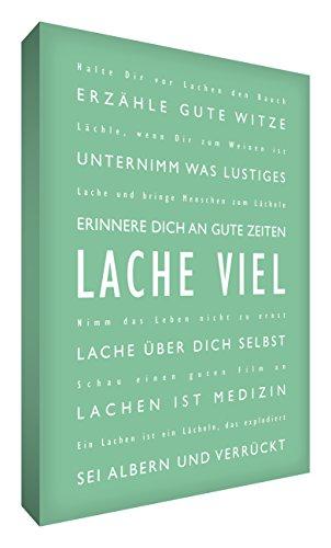 Little Helper LM1216-18G Feel Good Art Tableau sur toile de lin avec citations en langue allemande Typographie moderne Vert tilleul 40 x 30 cm