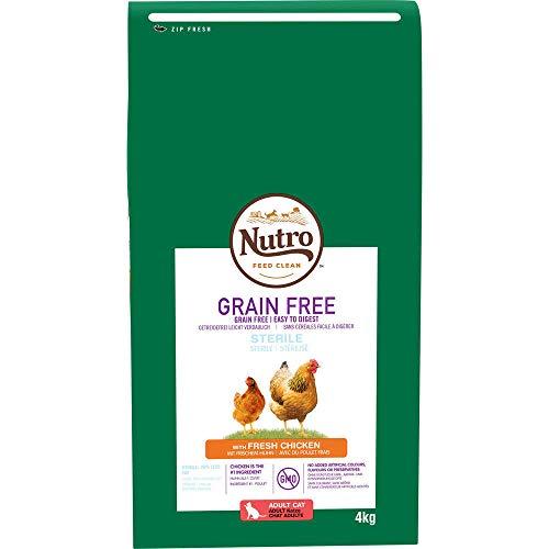 Pienso para Gato Nutro Grain Free Esterilizado Pollo 4 Kg