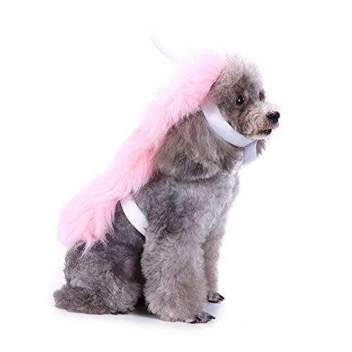 Balacoo Einhorn Hundekostüm-Halloween Einhorn Haustier Kostüm Einhorn Cape mit Kapuze Adorable Hundebekleidung Pet Supplies-Pink Größe S
