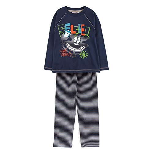 boboli Interlock Pajamas FOR Boy Conjuntos de Pijama, Azul (Indigo 2332), 92 cm para Niños