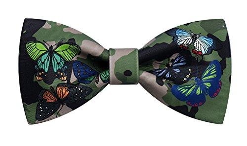 Rack En Nuage Papillon Camouflage Impression Textile Manuel Noeud Papillon