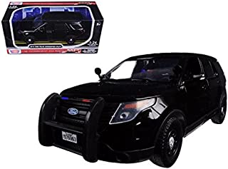 Motormax 76963 2015 Ford Interceptor Unmarked Police Car Black 1-24 Diecast Model Car