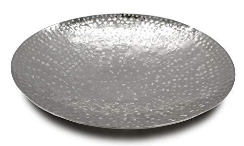 Deko Schale Silber aus Metall Ø 50cm