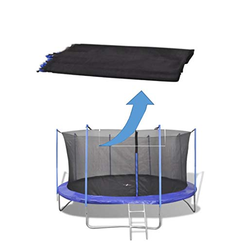 Red de Seguridad para Trampolín, Malla de Repuesto con Cremallera para Cama elástica de 4,26 metro con 8 Postes