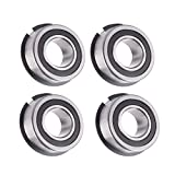Donepart Bearings 1 Inch ID x 2 Inch OD Deep Groove Ball Bearings with Snap Ring, Garage Door Torsion Spring Center Bearings, 4 Pcs