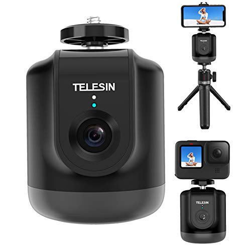 TELESIN Smart Shooting Gimbal Selfie 360 ° Rotazione Auto Face Follow Object Tracking Per GoPro Hero 9/8/7/6/5 Osmo Action Smartphone Camera Vlog Live Meeting con telecomando