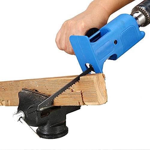 Seghetto alternativo professionale con inserto per lima in metallo, per tagliare il legno di trapani con set di 3 lame