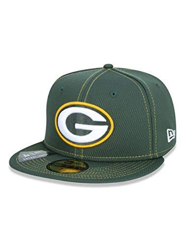 New Era Berretto da Uomo 59fifty Green bay Packers, Uomo, Berretto da Uomo, 12050661, Verde Scuro, 60